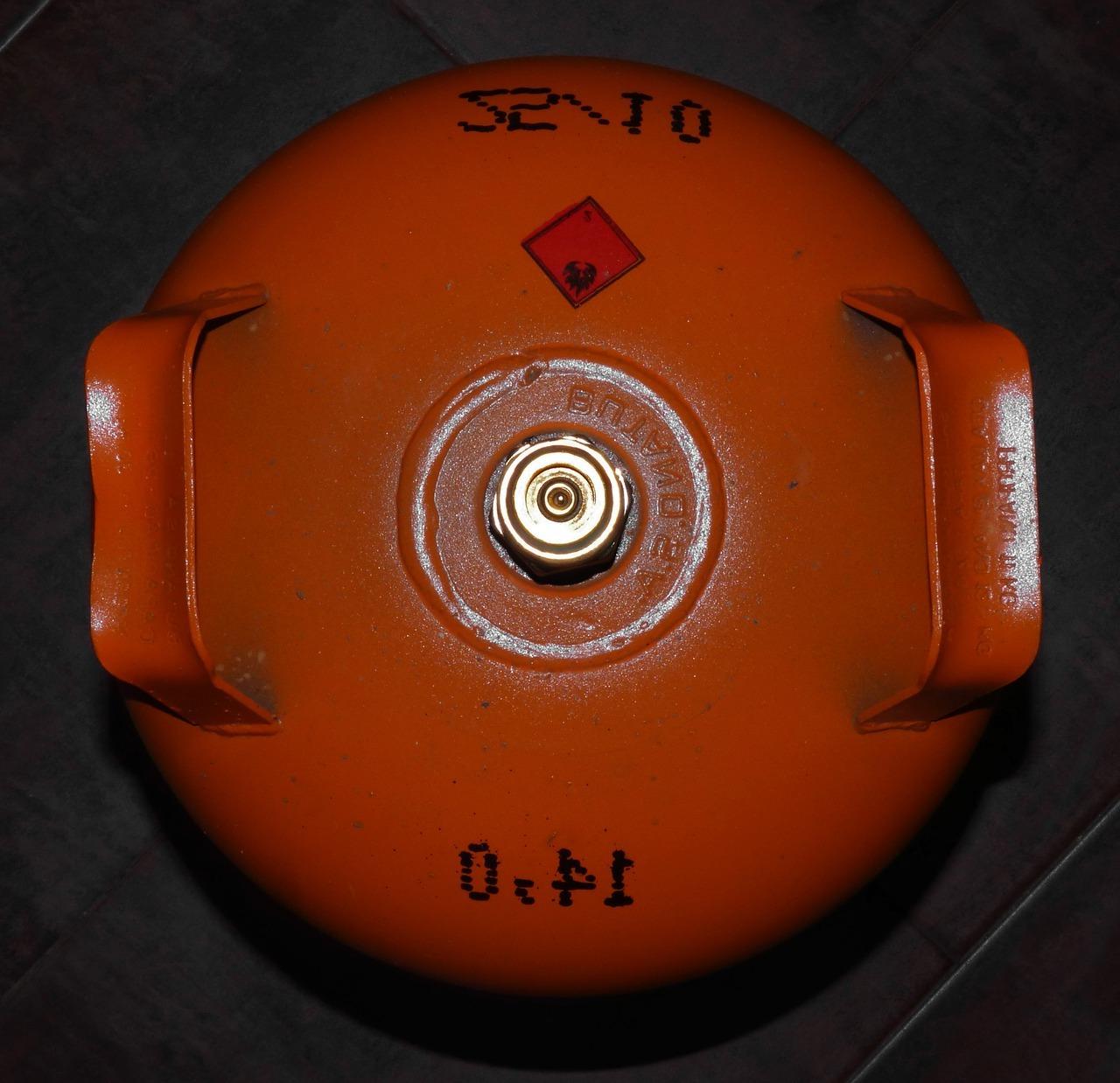 botella de butano para estufas de gas