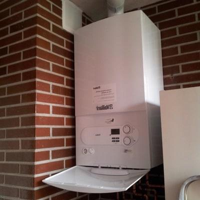 Ejemplo de la calefacción por gas natural